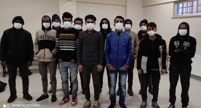 12 göçmen yakalandı