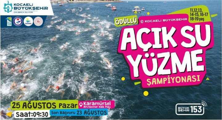 Açık Su Yüzme Şampiyonası Karamürsel etabı başlıyor
