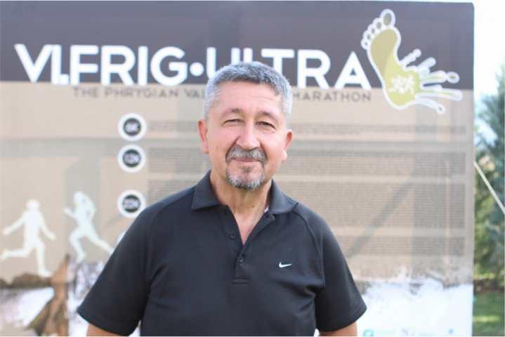 Afyon'da Frig Ultra Maratonunda koştu