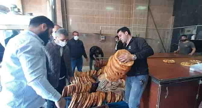 Ağrılılardan 1500 haneye ramazan pidesi