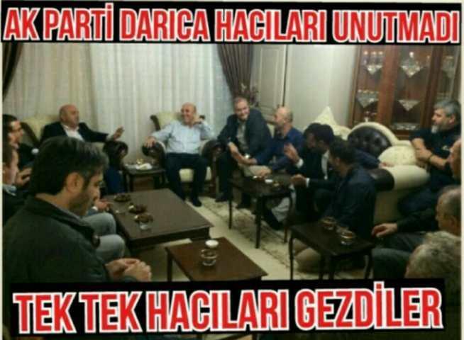 AK PARTİ DARICA HACILARI UNUTMADI