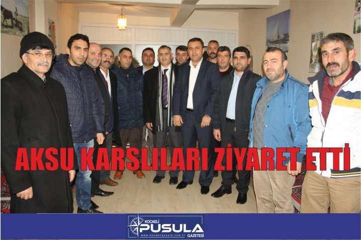 AKSU KARS'LILARI ZİYARET ETTİ