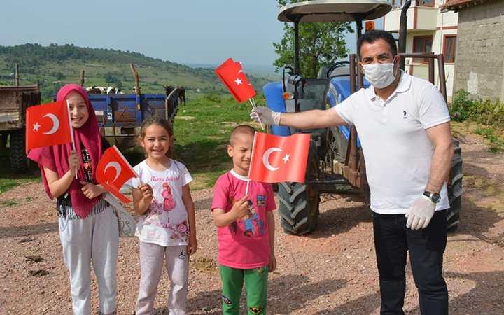 Atamızın bağımsızlık meşalesi İzmit'in köylerinde yandı