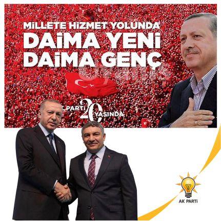 Başkan Şayir'den AK Parti'nin 20. Kuruluş Yıl Dönümü Mesajı