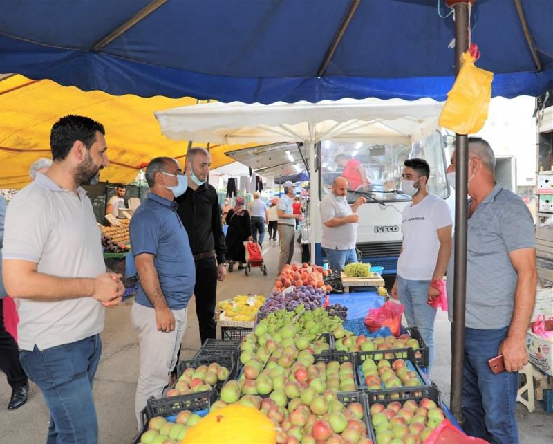 Başkan Söğüt'ten pazar ziyareti