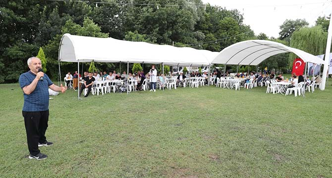 Belediye personeli piknikte stres attı