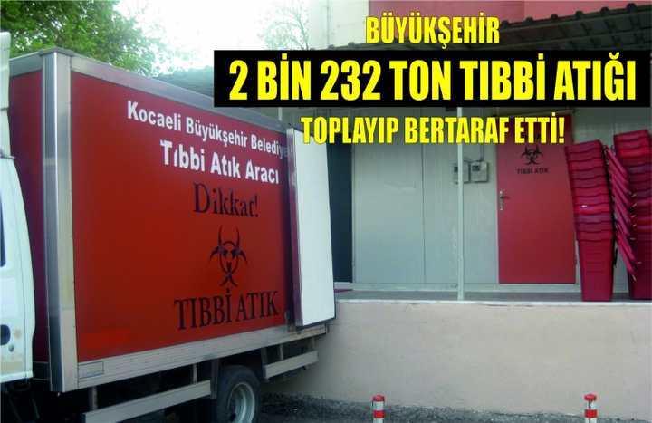 Büyükşehir, 2 bin 232 ton tıbbi atığı toplayıp bertaraf etti!