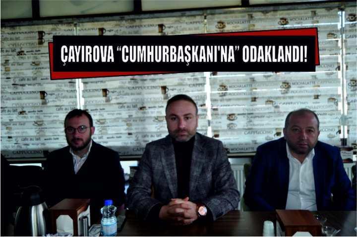 """ÇAYIROVA """"CUMHURBAŞKANI'NA"""" ODAKLANDI!"""
