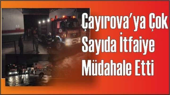 Çayırova'ya Çokça İtfaiye Müdahale Etti