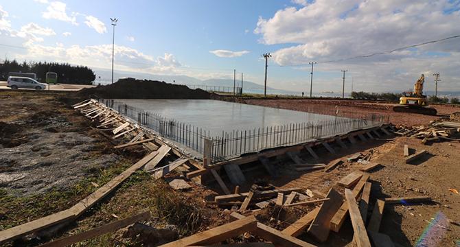 Çocuk Trafik Eğitim Parkında idari bina temeli atıldı