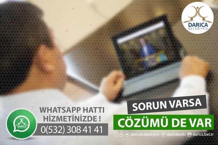 "DARICA BELEDİYESİ ""WHATSAPP"" HATTI DEVREDE"