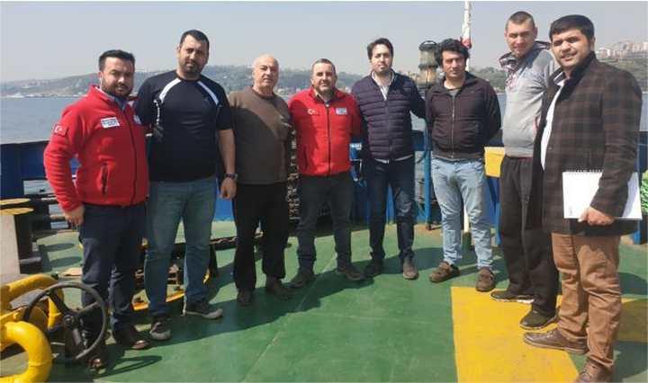 Darıca Kızılay'dan S.O.S Veren Gemiye Ziyaret