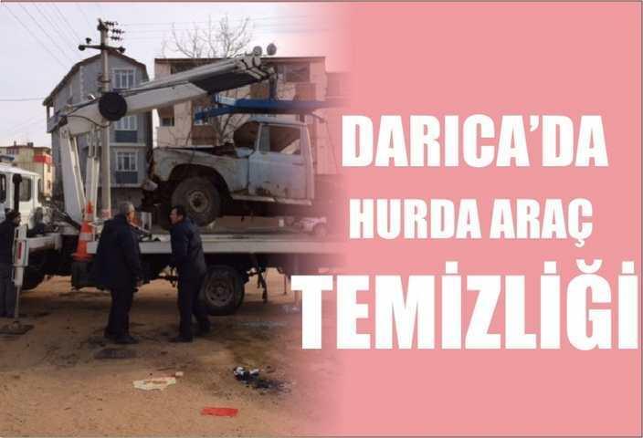 DARICA'DA HURDA ARAÇ TEMİZLİĞİ