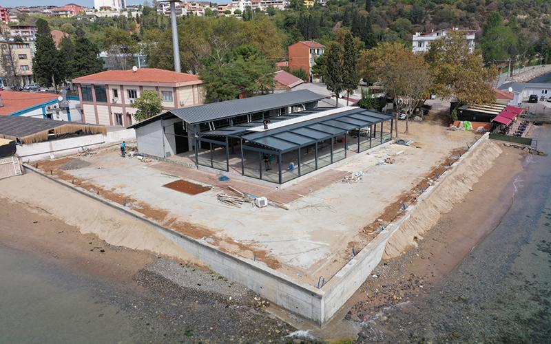 Darıca'daki yeni restoran sahil parkına yakışacak