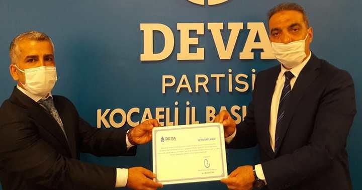 DEVA Partisi Dilovası ilçe başkanı belli oldu