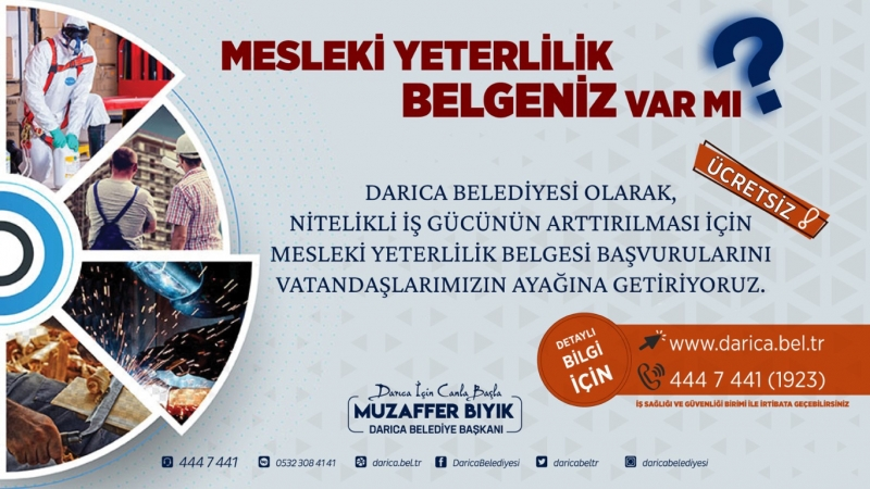 Dikkat ! Başvurular www.darica.bel.tr adresinden