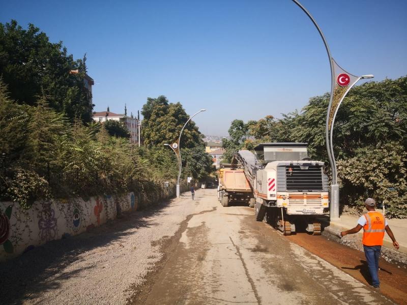Dilovası Bağdat Caddesi'nde Sıra Üstyapı Çalışmasında