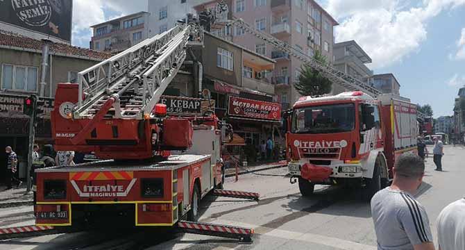 Gebze'de yangın korkuttu