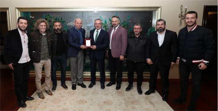 Gebzespor'dan Başkan Köşker'e  TEŞEKKÜR ZİYARETİ