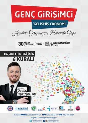 Genç Girişimci Gelişmiş Ekonomi Projesi için protokol imzalanacak
