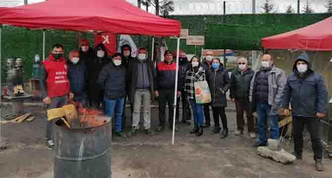 HKP'den grevdeki Baldur işçilerine ziyaret