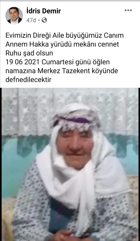 İDRİS DEMİR'İN ACI GÜNÜ
