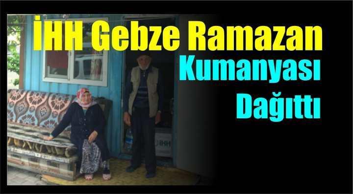 İHH Gebze Ramazan Kumanyası Dağıttı