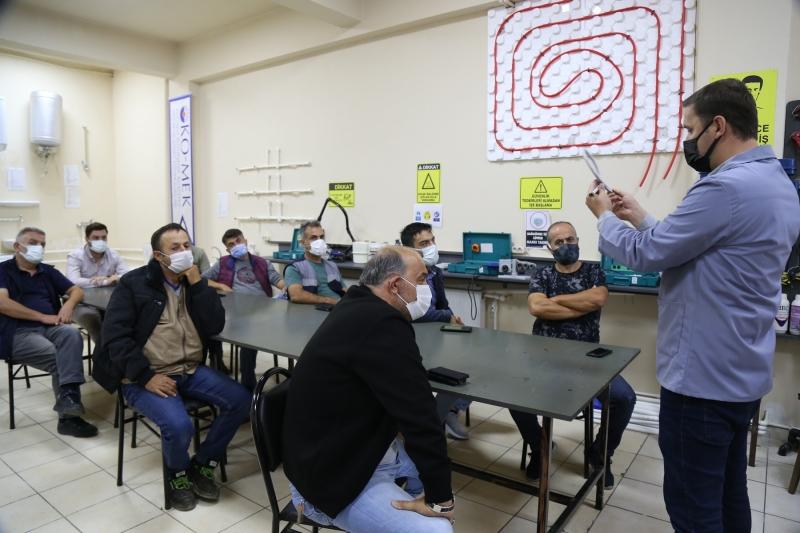 İSU personelilerine sıhhi tesisat eğitimi