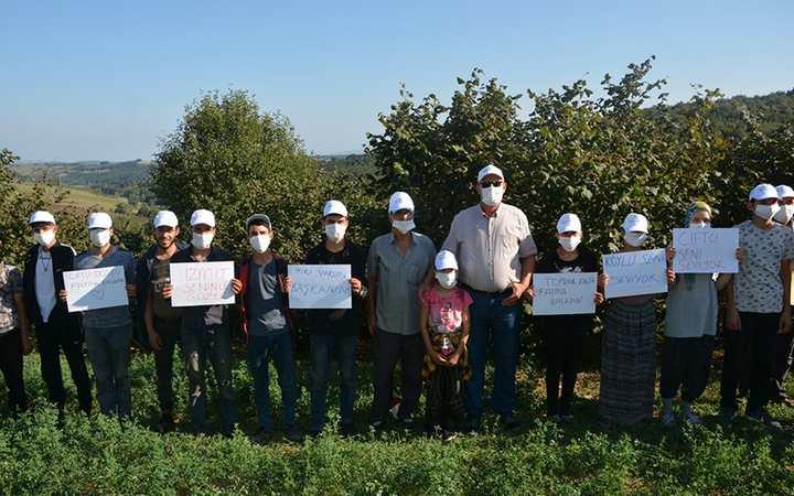 Kandıra'daki mevsimlik işçilere şapka ve maske