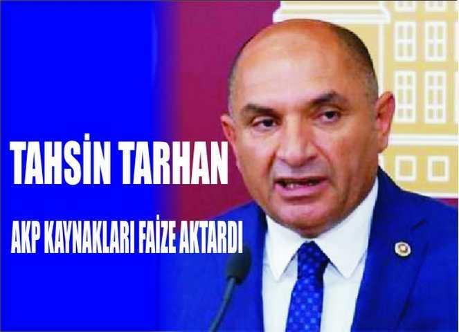 Kocaeli Milletvekili Tarhan;