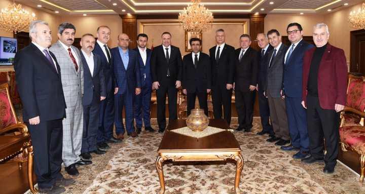 Kocaeli Valisi Hasan Basri Güzeloğlu'na ziyaret
