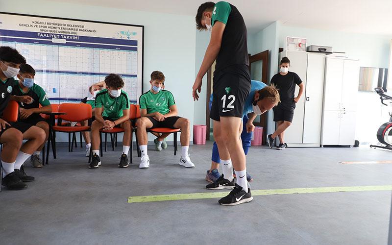 Kocaelispor U19 performans ölçümleri SPORTAM'da