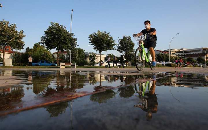 Korona'da bisiklet öncelik oldu