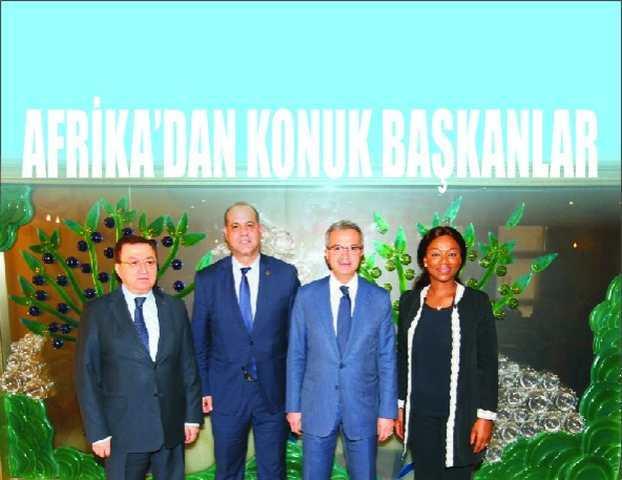 Köşker'e Afrika'dan konuk başkanlar