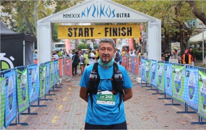 Kyzikos Ultra Maratonunda koştu
