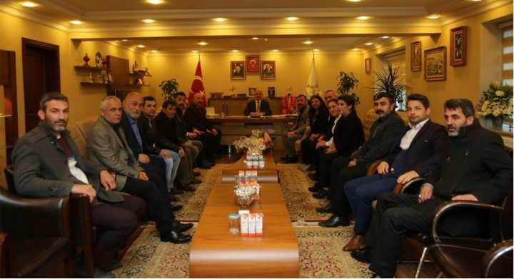 MHP İlçe Yönetiminden Bıyık'a  Hayırlı Olsun Ziyareti