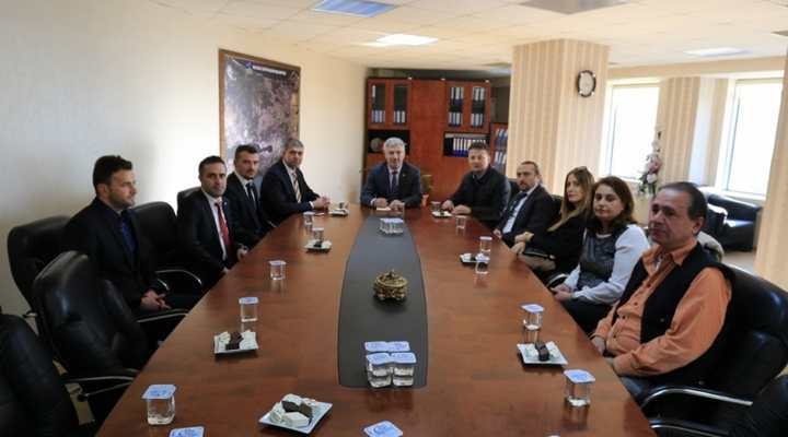 Mimarlar ve inşaat mühendislerinden Başkan Vekili Özak'a ziyaret