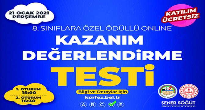 Öğrencilere online deneme sınavı