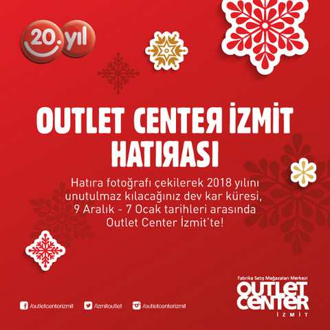 Outlet Center İzmit'te Dev Kar Küresi