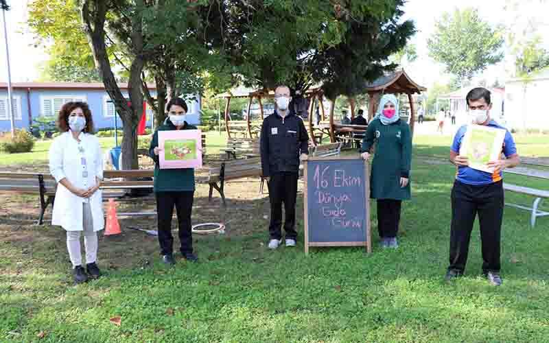Özel öğrenciler gıda israfına dikkat çekti