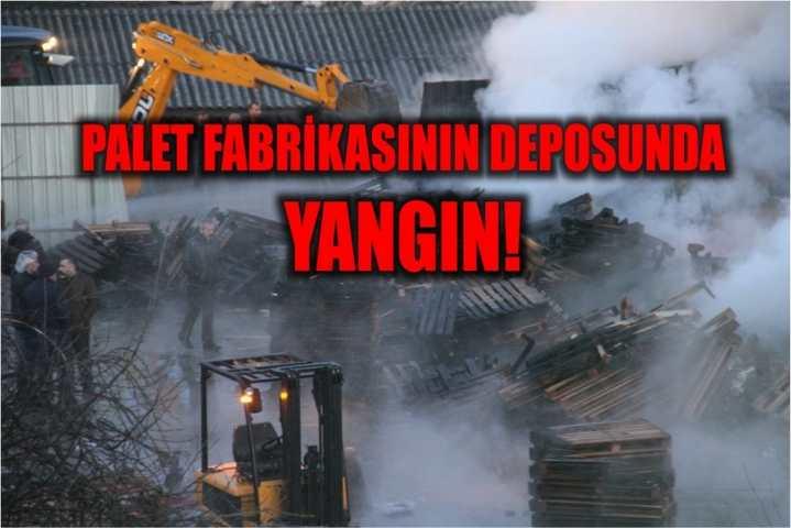 Palet fabrikasının deposunda yangın!
