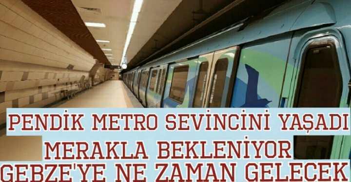 Pendik'ten metro seferleri başladı