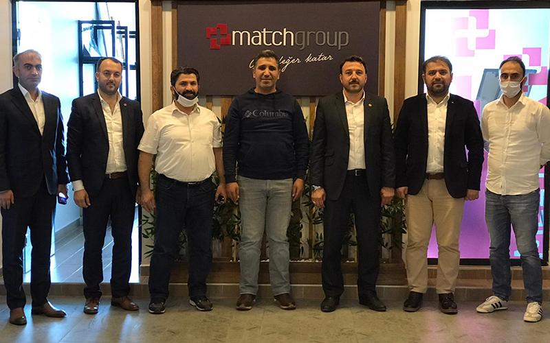 Saadet partisinden Mathcgroup'a ziyaret