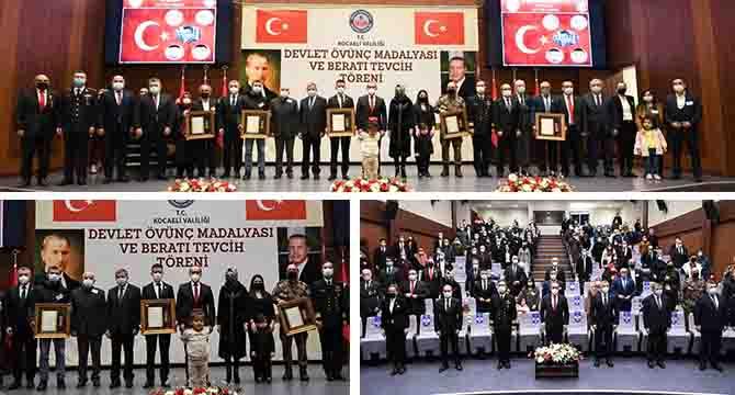 Şehit Yakınlarına ve Gazilerimize Devlet Övünç Madalyası