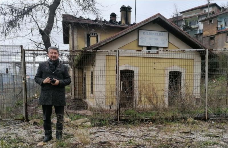"""""""Tarihi Diliskelesi Tren istasyonu yangını, içimizi yaktı"""""""