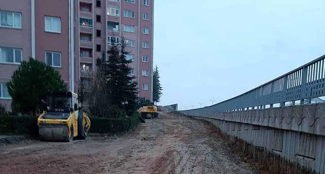 Tavşantepe TOKİ Konutları'na yeni asfalt yol
