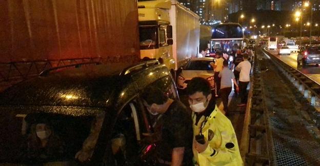 TEM'de 28 araç bir birine girdi