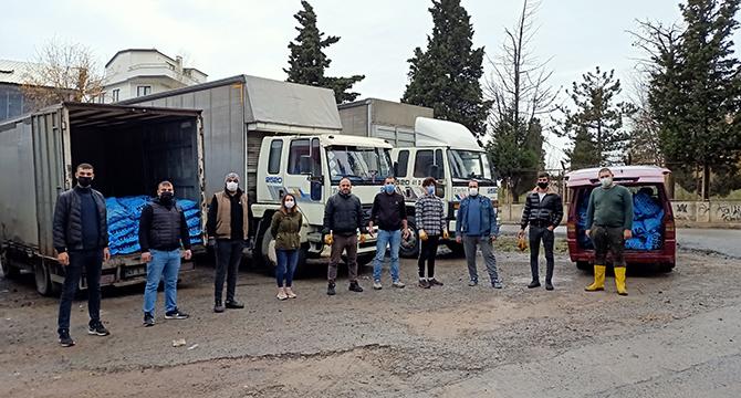 Trabzonlu Gençlerden İhtiyaç sahibi ailelere 40 ton kömür