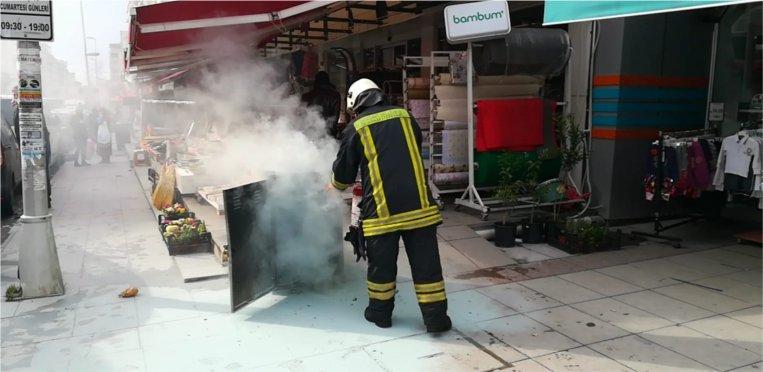 Trafo patlaması sonucu yangın çıktı!