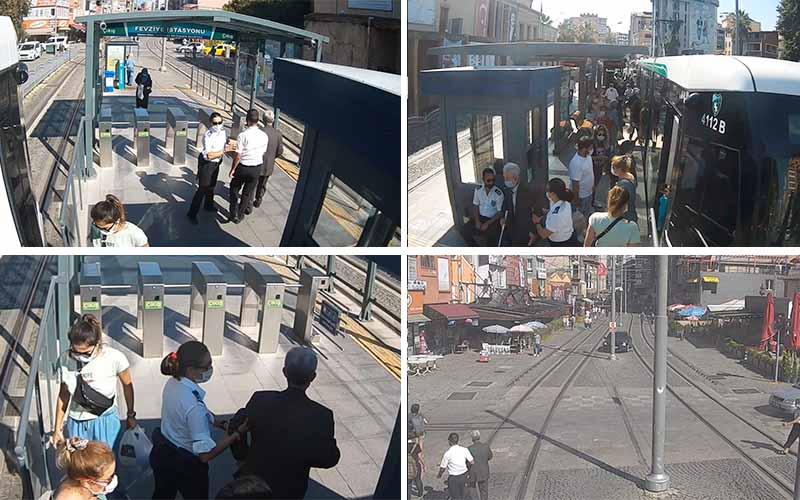 Tramvay güvenlik personelinden örnek davranış